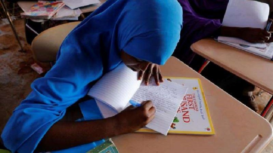 Somalia national secondary exam candidate in previous exam sitting
