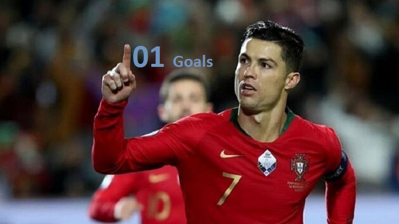 Christiano Ronaldo celebrates after scoring his 101 goal for Portugal